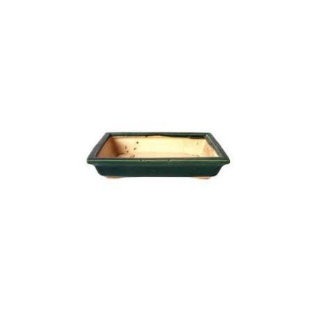 Maceta rectangular verde