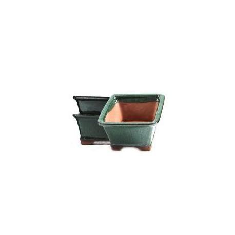 Maceta rectangular 25cm. Verde