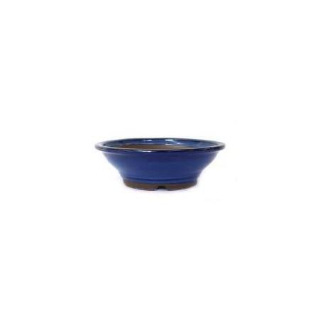 Maceta redonda azul