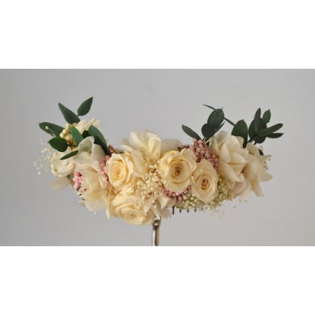 Tocado flor preservada Daria