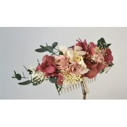 Tocado flor preservada Creta