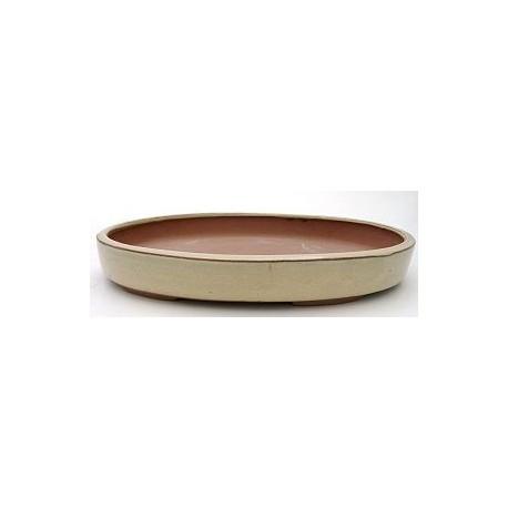 Tiesto oval 25x17.5x4 cm crema