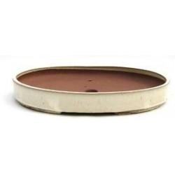 Tiesto oval 34x24x4.6 cm crema