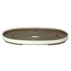 Tiesto oval 44.5x28.5x3 cm crema