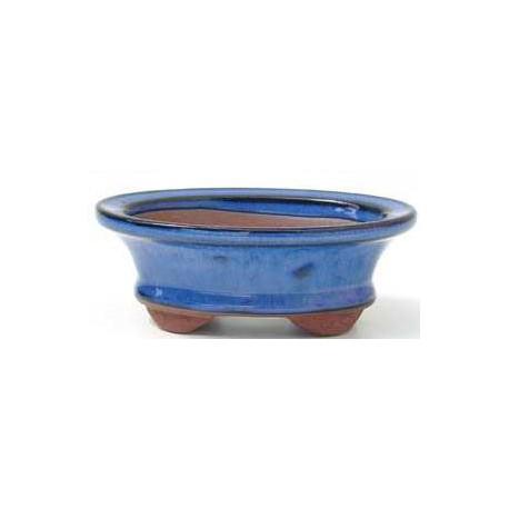Tiesto oval azul 32.2 cm